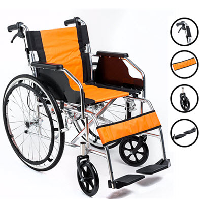 General, Light Aluminium Wheelchair to 100kg.