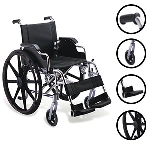 Xavier Wheelchair Folding Aluminium